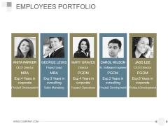 Employees Portfolio Ppt PowerPoint Presentation Rules