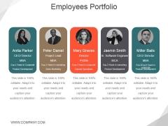 Employees Portfolio Template 2 Ppt PowerPoint Presentation Inspiration Styles