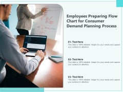 Employees Preparing Flow Chart For Consumer Demand Planning Process Ppt PowerPoint Presentation Layouts Graphics Pictures PDF