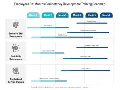 Employees Six Months Competency Development Training Roadmap Background