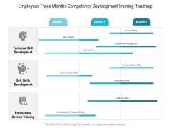 Employees Three Months Competency Development Training Roadmap Designs