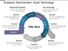 Employer Discrimination Quick Technology Ppt PowerPoint Presentation Outline Graphics