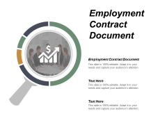 Employment Contract Document Ppt Powerpoint Presentation Inspiration Graphics Design Cpb