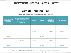 Employment Proposal Sample Format Ppt PowerPoint Presentation Professional Designs