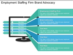 Employment Staffing Firm Brand Advocacy Ppt PowerPoint Presentation Professional Grid