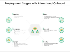 Employment Stages With Attract And Onboard Ppt PowerPoint Presentation Gallery Slide PDF