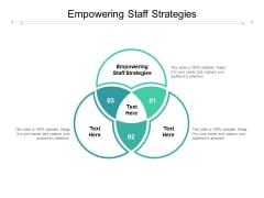 Empowering Staff Strategies Ppt PowerPoint Presentation Show Background Image Cpb Pdf
