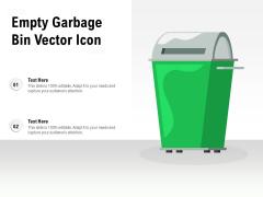 Empty Garbage Bin Vector Icon Ppt PowerPoint Presentation Summary Visuals PDF