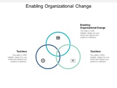 Enabling Organizational Change Ppt PowerPoint Presentation Professional Rules Cpb
