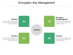 Encryption Key Management Ppt PowerPoint Presentation Icon Format Ideas Cpb Pdf