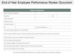 End Of Year Employee Performance Review Document Ppt Powerpoint Presentation Gallery Professional