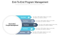 End To End Program Management Ppt PowerPoint Presentation Show Images Cpb Pdf
