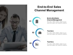 End To End Sales Channel Management Ppt PowerPoint Presentation Professional Picture Cpb