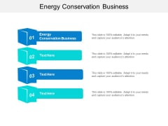 Energy Conservation Business Ppt PowerPoint Presentation Gallery Icons Cpb
