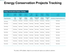 Energy Conservation Projects Tracking Ppt Powerpoint Presentation File Diagrams