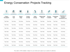 Energy Conservation Projects Tracking Ppt PowerPoint Presentation Infographics Inspiration