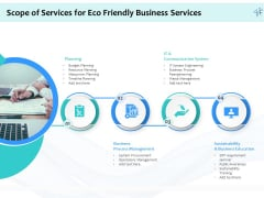 Energy Efficient Corporate Scope Of Services For Eco Friendly Business Services Portrait PDF