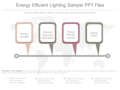 Energy Efficient Lighting Sample Ppt Files
