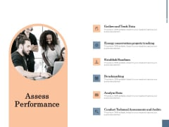 Energy Tracking Device Assess Performance Ppt PowerPoint Presentation Infographic Template Aids PDF