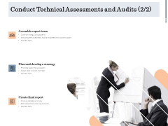 Energy Tracking Device Conduct Technical Assessments And Audits Strategy Ppt PowerPoint Presentation Layouts Example PDF