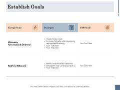 Energy Tracking Device Establish Goals Ppt PowerPoint Presentation Summary Portfolio PDF