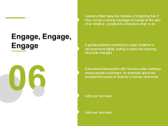 Engage Engage Engage Ppt PowerPoint Presentation Show Graphics Pictures