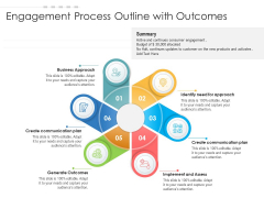 Engagement Process Outline With Outcomes Ppt PowerPoint Presentation Ideas Graphic Tips PDF