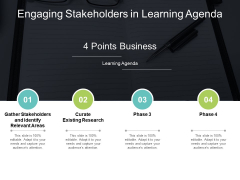 Engaging Stakeholders In Learning Agenda Ppt PowerPoint Presentation Infographic Template Shapes
