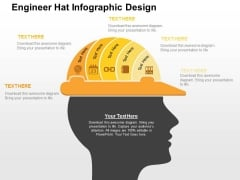 Engineer Hat Infographic Design Powerpoint Templates