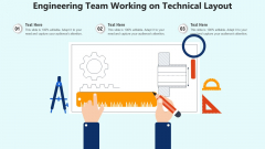Engineering Team Working On Technical Layout Ppt PowerPoint Presentation Gallery Example Topics PDF