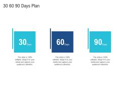 Enhance Enterprise Application Performance 30 60 90 Days Plan Ppt Model Clipart PDF