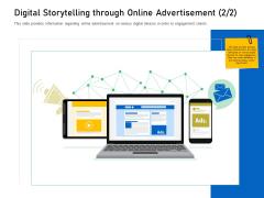 Enhancing Customer Engagement Digital Platform Digital Storytelling Through Online Advertisement Order Themes PDF