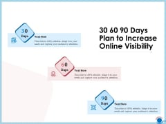 Enhancing Digital Presence Proposal Template 30 60 90 Days Plan To Increase Online Visibility Clipart PDF