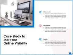 Enhancing Digital Presence Proposal Template Case Study To Increase Online Visibility Slides PDF