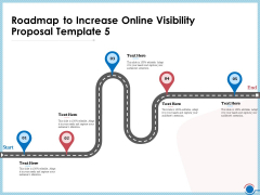 Enhancing Digital Presence Proposal Template Roadmap To Increase Online Visibility Proposal Template 5 Information PDF