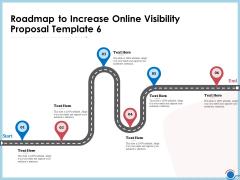 Enhancing Digital Presence Proposal Template Roadmap To Increase Online Visibility Proposal Template 6 Brochure PDF