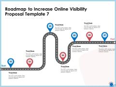 Enhancing Digital Presence Proposal Template Roadmap To Increase Online Visibility Proposal Template 7 Sample PDF