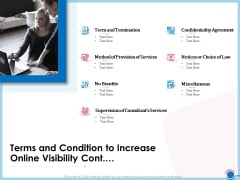Enhancing Digital Presence Proposal Template Terms And Condition To Increase Online Visibility Cont Mockup PDF