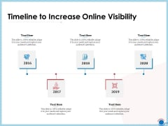 Enhancing Digital Presence Proposal Template Timeline To Increase Online Visibility Professional PDF