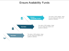 Ensure Availability Funds Ppt PowerPoint Presentation Styles Icons Cpb