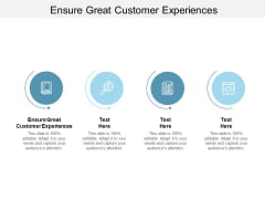 Ensure Great Customer Experiences Ppt PowerPoint Presentation Icon Design Ideas Cpb