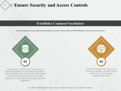 Ensure Security And Access Controls Ppt PowerPoint Presentation Pictures Examples
