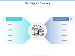 Enterprise Analysis Due Diligence Summary Ppt Outline Graphics Pictures PDF