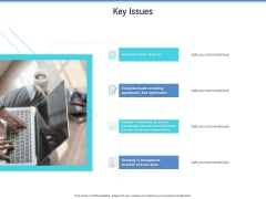 Enterprise Analysis Key Issues Ppt Icon Pictures PDF