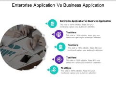 Enterprise Application Vs Business Application Ppt PowerPoint Presentation Visual Aids Professional Cpb