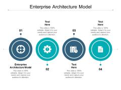 Enterprise Architecture Model Ppt PowerPoint Presentation Visual Aids Professional Cpb