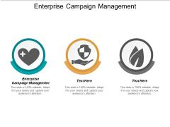 Enterprise Campaign Management Ppt PowerPoint Presentation Professional Gallery Cpb
