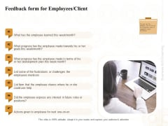 Enterprise Capabilities Training Feedback Form For Employees Client Ppt PowerPoint Presentation Layouts Show PDF