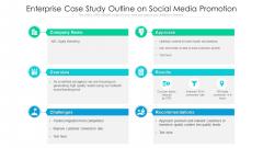 Enterprise Case Study Outline On Social Media Promotion Ppt Icon Styles PDF