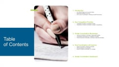 Enterprise Collaboration At Global Scale Table Of Contents Ppt Infographic Template Example PDF